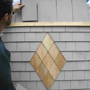 Wall shingle designs